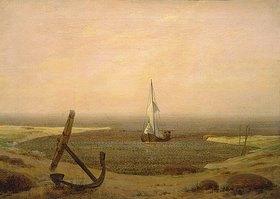 Caspar David Friedrich: Abend bei Ebbe