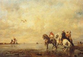 Eugène Fromentin: Falkenjagd in der Sahara