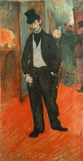 Henri de Toulouse-Lautrec: Gabriel Tapies de Celeyran im Gang eines Theaters