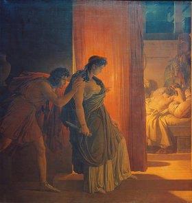 Pierre Narcisse Guérin: Klytemnestra im Schlafgemach ihres Mannes Agamemnon