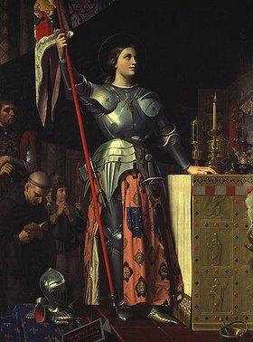 Jean Auguste Dominique Ingres: Jeanne d' Arc (1412-31) bei der Salbung Charles VII. (1403-61) in der Kathedrale von Reims