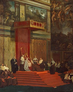 Jean Auguste Dominique Ingres: Papst Pius VII. in der Kapelle