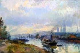 Albert Lebourg: Schleppdampfer auf der Seine bei Rouen