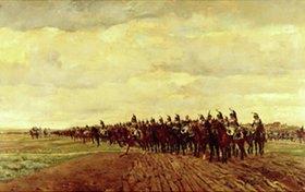 Ernest Meissonier: Französische Kürassiere vor dem Angriff 1805. Entstanden