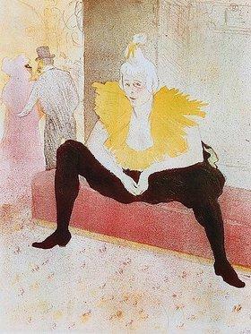 Henri de Toulouse-Lautrec: La Clownesse (Cha-U-Kao als Bajazzo)