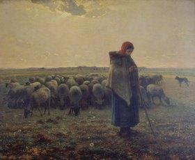 Jean-François Millet: Schafhirtin mit Herde (La grande Bergère)