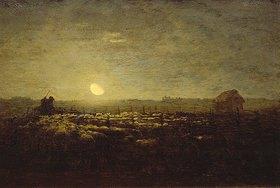 Jean-François Millet: Schafweide bei Sonnenuntergang