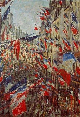 Claude Monet: Strasse im Flaggenschmuck