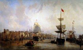 Charles Louis Mozin: Hafen von Rouen