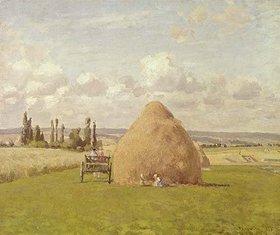 Camille Pissarro: Strohhaufen in Pontoise