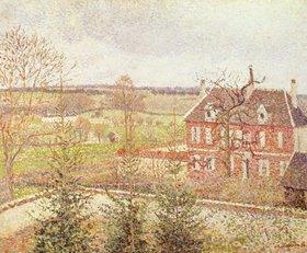 Camille Pissarro: Blick aus dem Fenster des Ateliers auf die Taubstummenanstalt