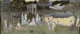 Pierre Puvis de Chavannes: Die Künste und die Musen im heiligen Wald
