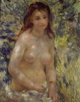 Auguste Renoir: Studie eines weiblichen Halbaktes im Sonnenlicht