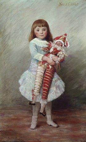 Auguste Renoir: Suzanne mit Harlekinpuppe