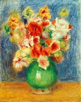 Auguste Renoir: Blumenstrauss in grüner Vase