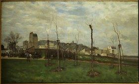 Alfred Sisley: Blick von Batignolles auf Montmartre