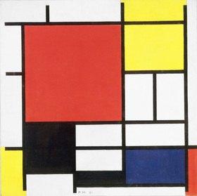 Piet Mondrian: Komposition mit Rot, Gelb, Blau und Schwarz