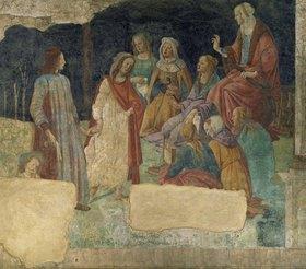 Sandro Botticelli: Ein junger Mann vor der Versammlung der freien Künste