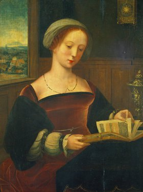 Meister der weibl. Halbfiguren: Die lesende hl. Magdalena