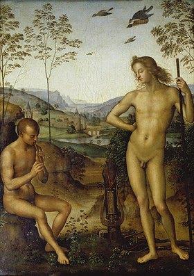 Perugino (Pietro Vanucci): Apoll und Marsyas