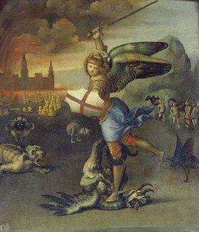 Raffael (Raffaello Sanzio): Der hl. Michael im Kampf mit dem Drachen