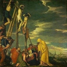 Paolo (Paolo Caliari) Veronese: Kalvarienberg (Christus am Kreuz mit den trauernden Frauen und Jüngern)