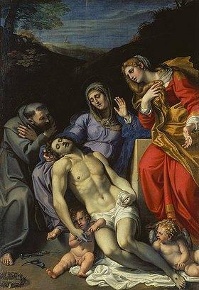 Annibale Carracci: Pietà, mit den hll. Franz von Assisi und Magdalena, sowie Maria