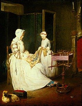 Jean-Baptiste Siméon Chardin: Die fleissige Mutter