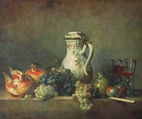 Jean-Baptiste Siméon Chardin: Stillleben mit Granatäpfeln und Trauben