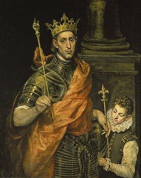 Greco El (Dominikos Theotokopoulos): Ludwig der Heilige (Saint-Louis), König von Frankreich, mit einem Pagen