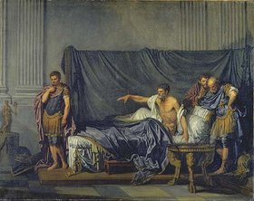 Jean Baptiste Greuze: Kaiser Septimus Severus verurteilt seinen Sohn Caracalla wegen versuchten Mordes