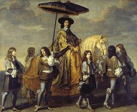 Charles Le Brun: Der Kanzler Séguier beim Einzug Ludwigs XIV. in Paris