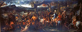 Charles Le Brun: Alexander der Große und Porus. Vor