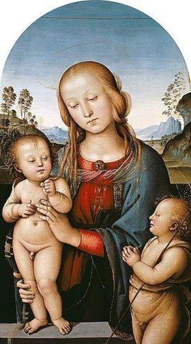 Perugino (Pietro Vanucci): Die Jungfrau mit dem Kind und dem Johannesknaben