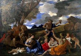 Nicolas Poussin: Bacchanal mit Lautenspielerin