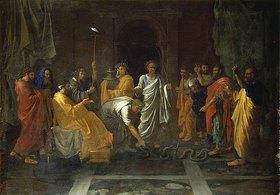 Nicolas Poussin: Moses verwandelt Aarons Gerte in eine Schlange