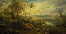 Peter Paul Rubens: Landschaft mit Vogelfänger