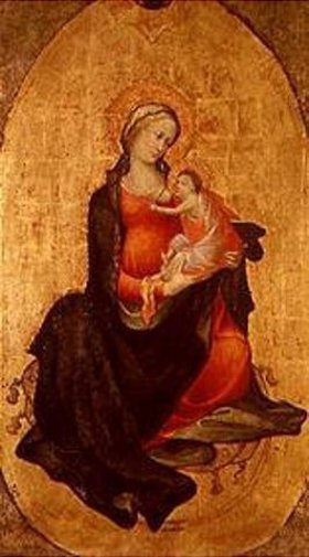 Meister des Bambino Vispo: Maria mit dem Kind