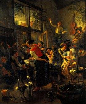 Jan Steen: Eine Familie beim Essen