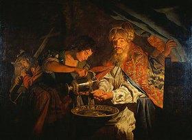 Matthias Stomer: Pilatus, seine Hände waschend