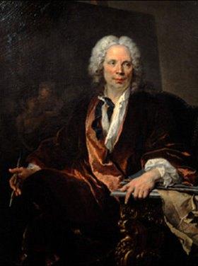 Louis Tocqué: Bildnis des Malers Galloche anlässlich seiner Aufnahme in die Akademie