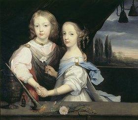 Anthonis van Dyck: Die Geschwister Winston und Arabella Churchill