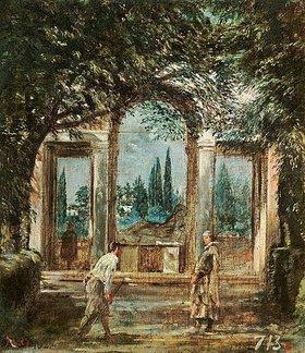 Diego Rodriguez de Velazquez: Gartenaspekt an der Villa Medici
