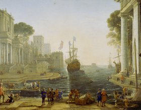 Claude Lorrain (Gellée): Odysseus übergibt Chryseis ihrem Vater