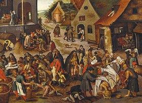 Pieter Brueghel d.J.: Die sieben Werke der Barmherzigkeit