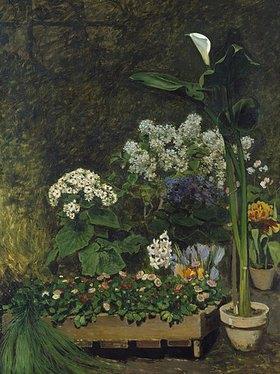 Auguste Renoir: Blumenstilleben (Arum und Gewächshauspflanzen)