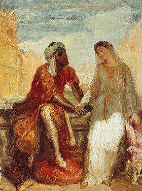 Theodore Chasseriau: Othello und Desdemona