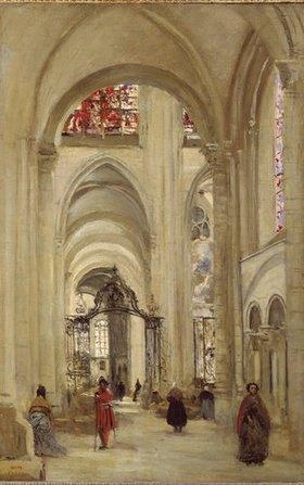 Jean-Baptiste Camille Corot: Inneres der Kathedrale von Sens