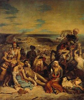 Eugene Delacroix: Aus dem griechischen Freiheitskampf:  Das Massaker von Chios