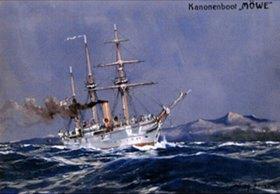 Willy Stöwer: Das Kanonenboot Möwe
